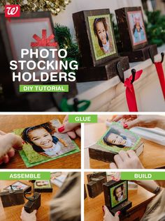 Customize your mantle! These photo stocking holders add a personal touch to holiday traditions. Plus, print your photos using our mobile app. Check out the how-to on our Smile blog!