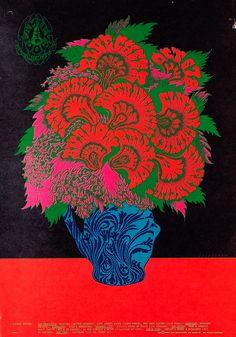 """Flower Pot"" The Family Dog Presents, Blue Cheer/Lee Michaels/Clifton Chenier, October 6-8, 1967 - Avalon Ballroom (San Francisco, CA) Art Victor Moscoso."