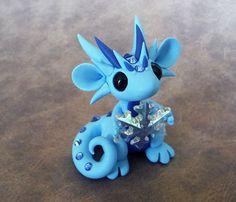 Light Blue Snowflake Scrap Dragon von DragonsAndBeasties auf Etsy
