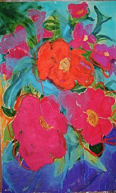 Impatient Impatiens: Kathryn Pistor: Acrylic Painting | Artful Home