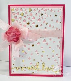 S4-457 Spellbinders CASCADING HEARTS Die Set  | Cascading Hearts With Love – by Heidi Blankenship