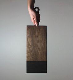 Walnut Ebony Board by Allied Maker