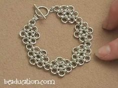 Learn the Japanese style of chain mail to create this fabulous bracelet. The pattern of this weave is simple, but this weave can be challenging if working with smaller rings. Join Colin in this step-by-step class and make one of your very own. To purchase jewelry making tools and supplies, visit us at beaducation.com!