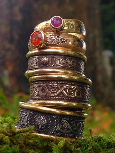 Lovely Stack of Viking Rings by Jason Ofengland.
