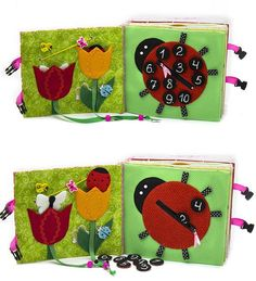 Quiet Book Busy Book Eco friendly educational fine motor