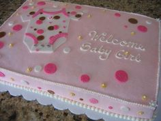 sheet cakes for baby girl shower - Google Search