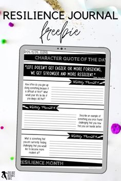 Character Education Morning Meeting Digital Whiteboard and Printable Journal freebie sample on RESILIENCE, ideal for social and emotional learning. This resource includes both a sample of the PowerPoint and the Journal of the same quotes so you can display the quote on the board while students record their reflections in their journals. This allows for maximum impact and flexibility for you and your needs. Teaching Character, Character Education, Character Development, Personal Development, Social Emotional Learning, Social Skills, Help Teaching, Teaching Resources, Citizenship Education