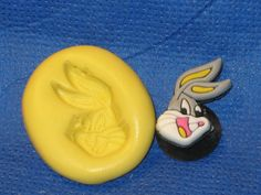 Bugs Bunny Push Mold Food Safe Silicone #504 Acrylic Cake Topper Resin Soap Candle by LobsterTailMolds on Etsy