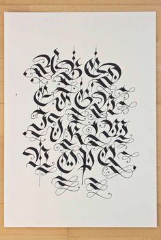 Diverse blackletter alphabets done with the parallel pen and pointed pen in / ink on paper / scanned in and inverted. Gothic Lettering, Graffiti Lettering Fonts, Graffiti Writing, Tattoo Lettering Fonts, Graffiti Alphabet, Lettering Styles, Hand Lettering, Alphabet A, Gothic Alphabet
