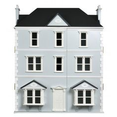 Dolls House Workshop Seaview / Gables BasementA splendid front hinged basement that creates an imposing appearance and gives additional space for domestic purposes or living quarters. Comes complete with wooden steps, railings, pillars and sashes. Miniature Dollhouse Accessories, Doll House Plans, Wooden Steps, Basement House, Wooden Windows, The Gables, Miniature Houses, Kit Homes, Dollhouse Furniture