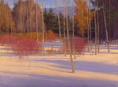 Dogwoods on the Bighead - Oil on canvas - Ian Roberts