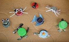Recycled Bottle Cap Crafts | Recycled Bottle Cap Craft | Bottle Caps and Shrinky Dinks