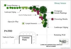 Plant Screening Ideas | ... Screen Design | Design by Function Garden Privacy Screen: Gardening