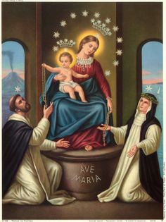 Happy Feast day of Our Lady of the Rosary! Prayer to Our Lady, Queen of the Most Holy Rosary O Queen of the Most Holy. Rosary Novena, Holy Rosary, Blessed Mother Mary, Blessed Virgin Mary, Catholic Saints, Roman Catholic, Our Lady Of Pompeii, Gabriel, La Pieta