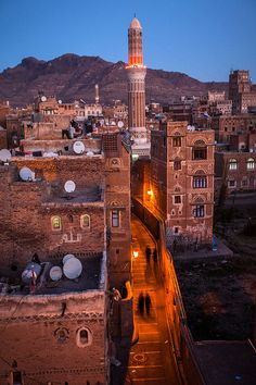 Yemen, the Land of Dreams by Anthony Pappone.  Sana'a is one of the oldest continuously inhabited cities in the world. At an altitude of 7,500 ft, it is also one of the highest capital cities in the world. Sana'a has a population of approximately 1,937,500 (2012), making it Yemen's largest city.