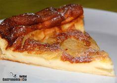 Flognarde de perasComo si fuese un pastel de queso con frutas