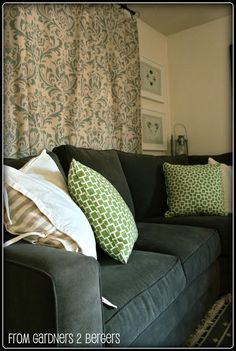 Remodelaholic   Damask Stenciled Curtain Tutorial