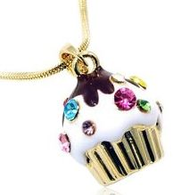 Cupcake necklace birthday gift - gift ideas for women, spring gifts!