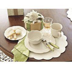 Provence 16 Pc Dinnerware Set << one set blue one set white