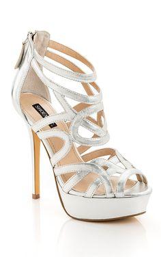 Metallic cut out heels