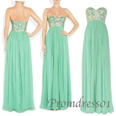 Prom dress 2015, prom dresses #promdress Handmade item Materials: Chiffon,beading,sequins Made to order Color: refer to image Processing time:25 business days Delivery date:5-10 business days Dress code:E0165 Fabric: Chiffon Embellishment: Beading,sequins Straps: Strapless Sleeves:Sleeveless Silhouette: A-Line Neckline...