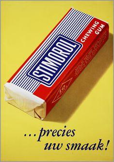 vintage Dutch advertising poster for Stimorol chewing gum Old Posters, Vintage Posters, Retro Advertising, Vintage Advertisements, Sweet Memories, My Childhood Memories, Memories Box, Nostalgia, Pub Vintage