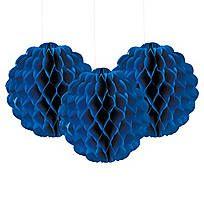 Scalloped Blue Tissue Balls - 13603951