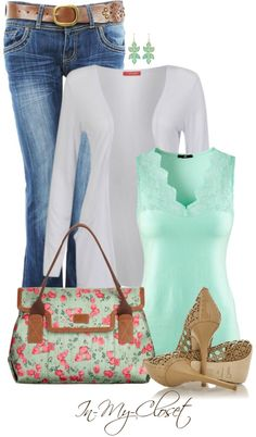 """Minty Fresh"" by in-my-closet on Polyvore"