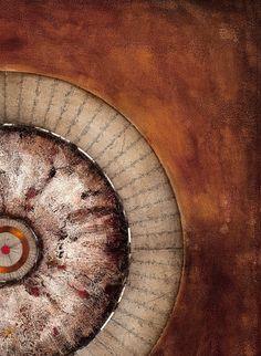 """© Miriam Da Silva  Série """"Cosmos"""" """"Supernovae SN 1a"""" 2015 150 x 150 cm Oil and matter on Canvas"""