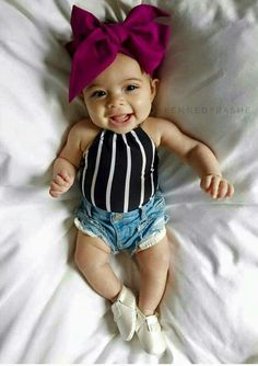 By providing yourself, you gain creativity, trigger money systems, I live … - Baby Girl Outfits My Baby Girl, Baby Kind, Baby Love, Baby Baby, Baby Girl Bows, Baby Girl Headbands, Baby Girls, The Babys, Outfits Niños