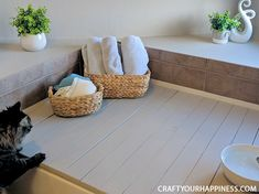 If you have a bathtub or garden tub you don't use often, learn how to increase your space by making a beautiful inexpensive removable wood bathtub cover. Bathtub Bench, Bathtub Cover, Wood Bathtub, Diy Bathtub, Bath Tub, Contact Paper Countertop, Guest Bathrooms, Bathroom Ideas, Anew Gray