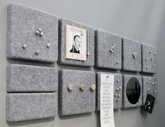 DIY inspiration: Felt pin board Use round shapes for Broadacre