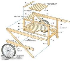 garden cart wheelbarrow plans DIY Outdoor Projects Pinterest
