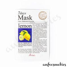 Ariul 7 days mask lemon Glowing Skin, Moisturizer, Remedies, Lemon, Skin Care, Cosmetics, Day, Collection, Moisturiser