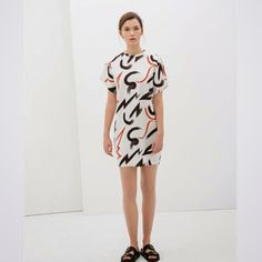 let's shop here : Cotton, Back Zipper WHITE DRESS