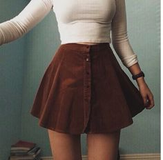 Cute skirt.... not sure about a white top tho haha