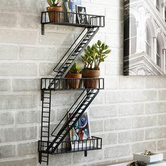 Design Ideas   Fire Escape Shelf   Decorative Shelving   Unusual Shelf
