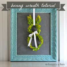 How to make a bunny boxwood wreath. #easter #spring #wreath