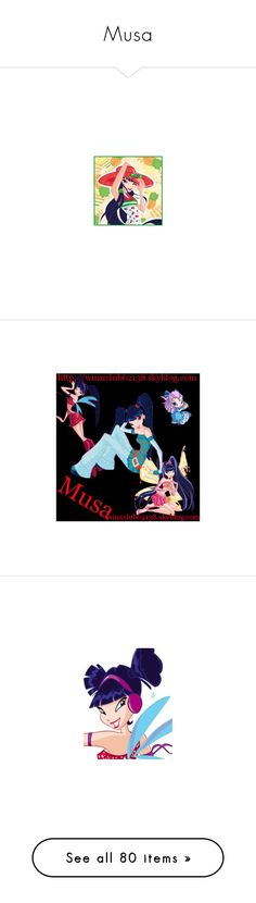 """""""Musa"""" by bambolinadicarta-1 ❤ liked on Polyvore featuring fairy, winx, musa, winxclub, winx club, fairies and characters"""