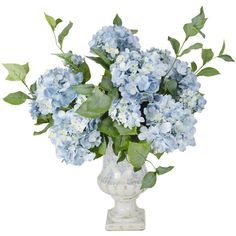 Budding Hydrangea Flower Vase ($190) ❤ liked on Polyvore featuring home, home decor, flowers, floral spray and floral home decor