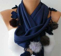 Pashmina  Scarf   Cotton Scarf  Headband  Cowl with by fatwoman, $22.50