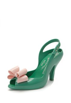 Green/Pink Lady Dragon Shoes with Bow