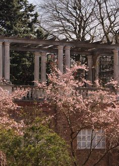 Pergola in Hampstead Heath on a spring day. Part of our Hampstead discovery tours