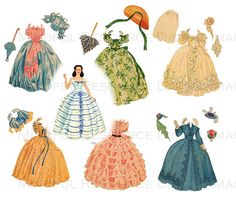 Gone with the Wind Printable Paper Dolls Hollywood Movie