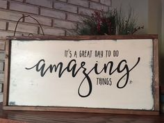 Amazing Things Wood Sign - Encouragement - Family Room - Home Decor - Farmhouse - Rustic - Shabby Ch. Amazing Things Wood Sign - Encouragement - Family Room - Home Decor - Farmhouse - Rustic - Shabby Ch Home Decor Quotes, Home Decor Signs, Rooms Home Decor, Diy Home Decor, Room Decor, Diy Signs, Rustic Wood Signs, Wooden Signs, Family Wood Signs