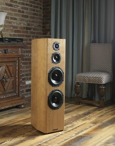 Bryston Middle T Floor-Standing Speakers - Front Side View