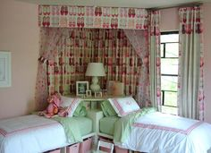 cool idea for twins or sisters who share a room