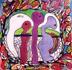 De Oorsprong 1 De kleurrijke mandala (magische cirkel), op mijn manier van meditatief schilderen. Een doekje vanuit de ziel. Een lichtpuntje om te geven, als oppepper, krachtgever, of als teken van vriendschap. Ellen Berens