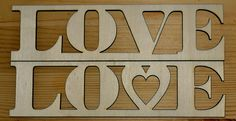 Love Schild in 2 Varianten