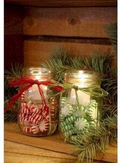 Cool 41 Creative DIY Christmas Centerpieces Ideas Using Mason Jars. More at http://trendecor.co/2017/12/31/41-creative-diy-christmas-centerpieces-ideas-using-mason-jars/